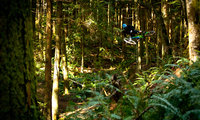 Trevor table whipping it on the local Bellingham trails