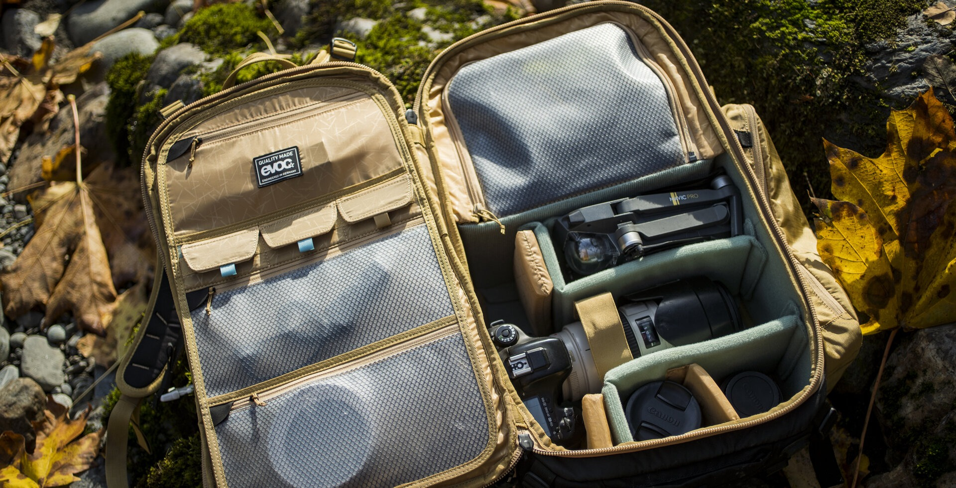EVOC makes fully-fitted camera backpack for professional and amateur sports photographers.