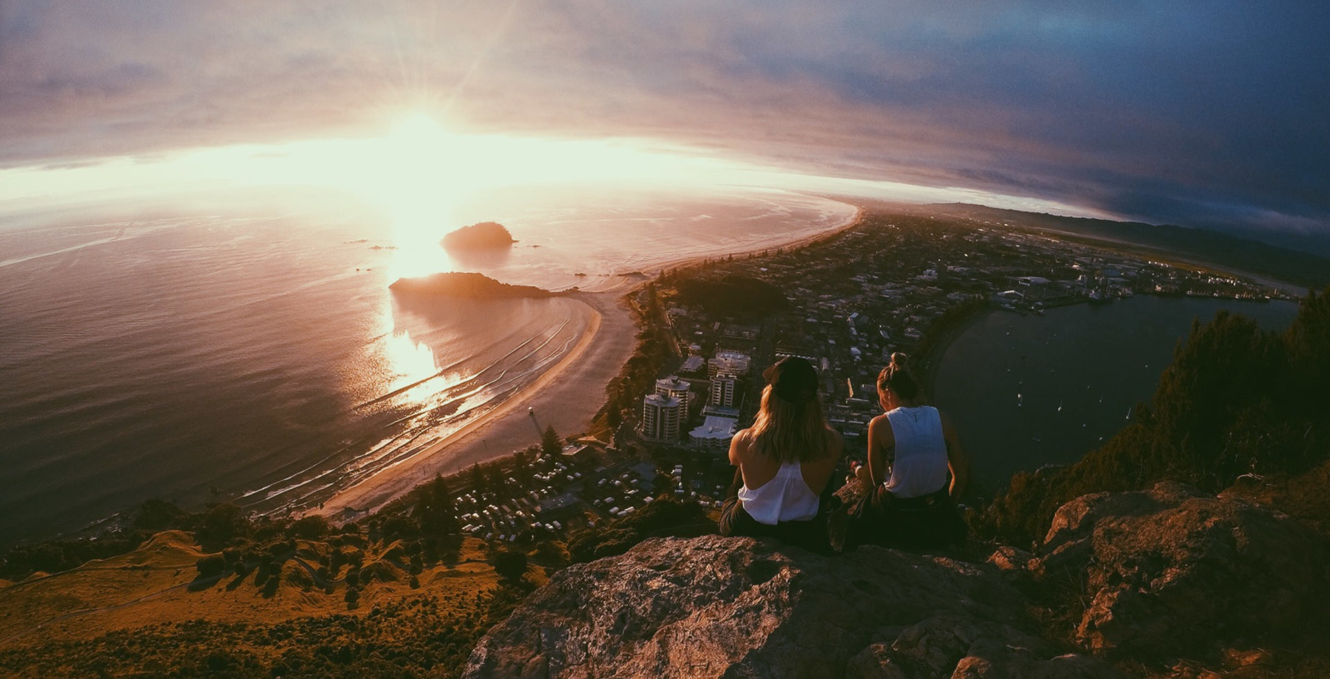 Hard to beat an early morning sunrise from the top of Mount Maunganui.