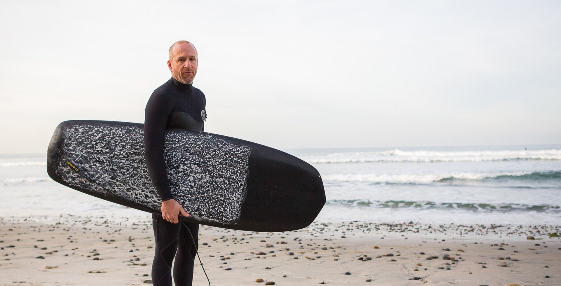 """Mountain biking and surfing are my two greatest outdoor passions, and living in San Diego I have no shortage of shreddable, world-class waves just a few blocks from my backyard.""  Photo: Chris Wellhausen"