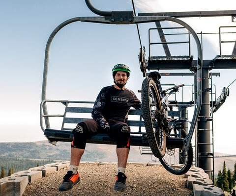 At Pomerelle, the bike park's chairlift runs on demand, and while word on the trail is that some veterans can unload their bikes without stopping the chair, lead trail builder Michael Westfall takes the safe tack.