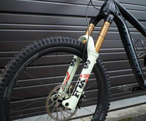 "2021 FOX 38 FORK, 170mm, 27.5""."