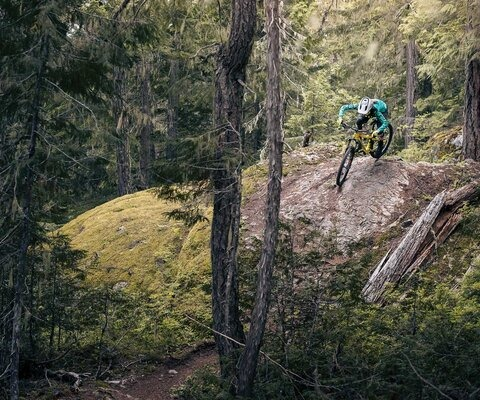 Located across the valley from the hustle and bustle of the Whistler Village, Cheap Thrills seems a world away from the bike park—perfect for folks trying to escape the height of the tourist season. Katrin Strand succeeds.