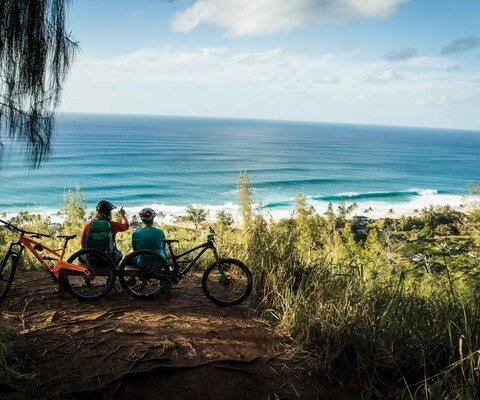 A few big waves, a bit of history and one hell of a view. Riley Seebeck and Max Fierek watch the swell roll in from the top an old WWII bunker on Oahu's North Shore.