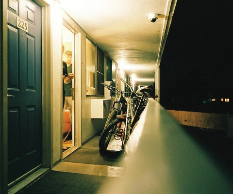 Most nights were akin to a live-action game of Tetris as the crew tried to squeeze five bikes, gear and bodies into cramped motel rooms, while still leaving enough space for one person to sleep on the floor. Photo: Will Cadham