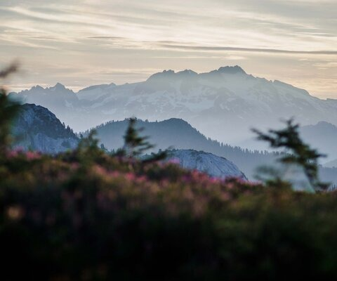 While the sea-level views from the Sea to Sky Corridor and Howe Sound are impressive, the higher you go, the better they get. Looking out from Sky Pilot and Goat Ridge, the mountains extend into infinity.