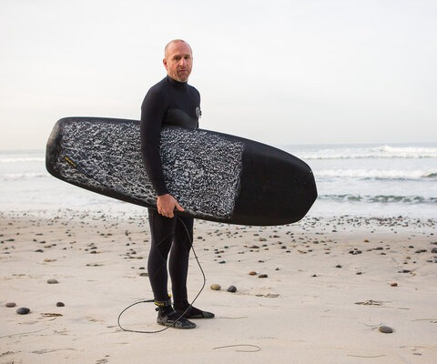 """""""Mountain biking and surfing are my two greatest outdoor passions, and living in San Diego I have no shortage of shreddable, world-class waves just a few blocks from my backyard.""""  Photo: Chris Wellhausen"""