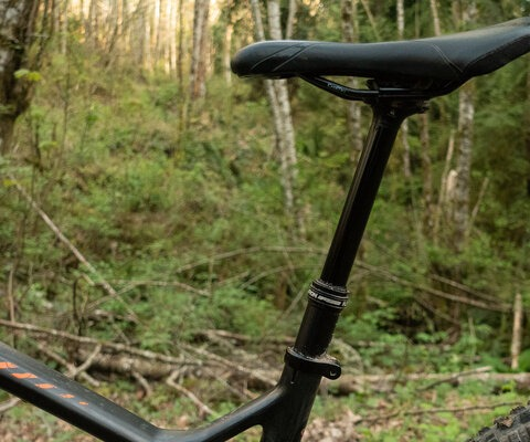 FSA's new Flowtron Dropper post offers a 125mm version or a 150mm option.