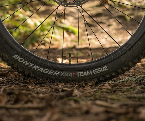 Bontrager's XR4 Team Issue tires are designed for aggressive trail riding, and they perform remarkably well in all conditions.