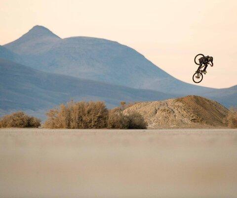 Cam McCaul in the desert. Photo: Tyler Roemer