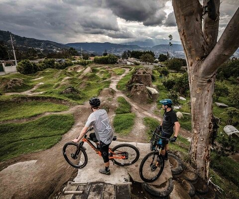 Not the average school playground, especially in Bolivia, but one that allows for as much freedom as it does confidence building. Thomas Vanderham and Scotty Laughland survey the yard with only a tinge of jealousy.